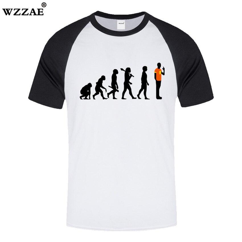 The Big Bang Theory evolución robótica camisetas de manga corta con cuello redondo para hombre 2018 nueva Camiseta de algodón de primavera 100% Hip Hop Fitness para hombre