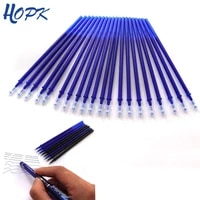 20 pcs erasable pen 0 5mm blueblack red ink ballpoint pen for shool office writing supplies erasable rods stationery