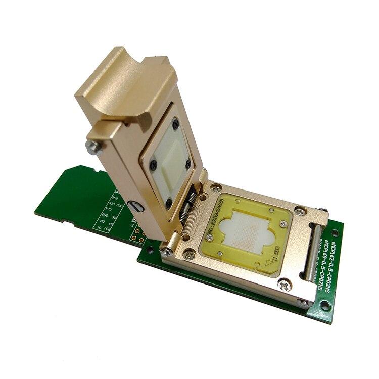 مقبس سبيكة eMMC eMMC153/169 eMCP162/186 eMCP221 Pogo ، قارئ دبوس الاختبار ، BGA153 169 162 186 ، واجهة SD لاستعادة البيانات