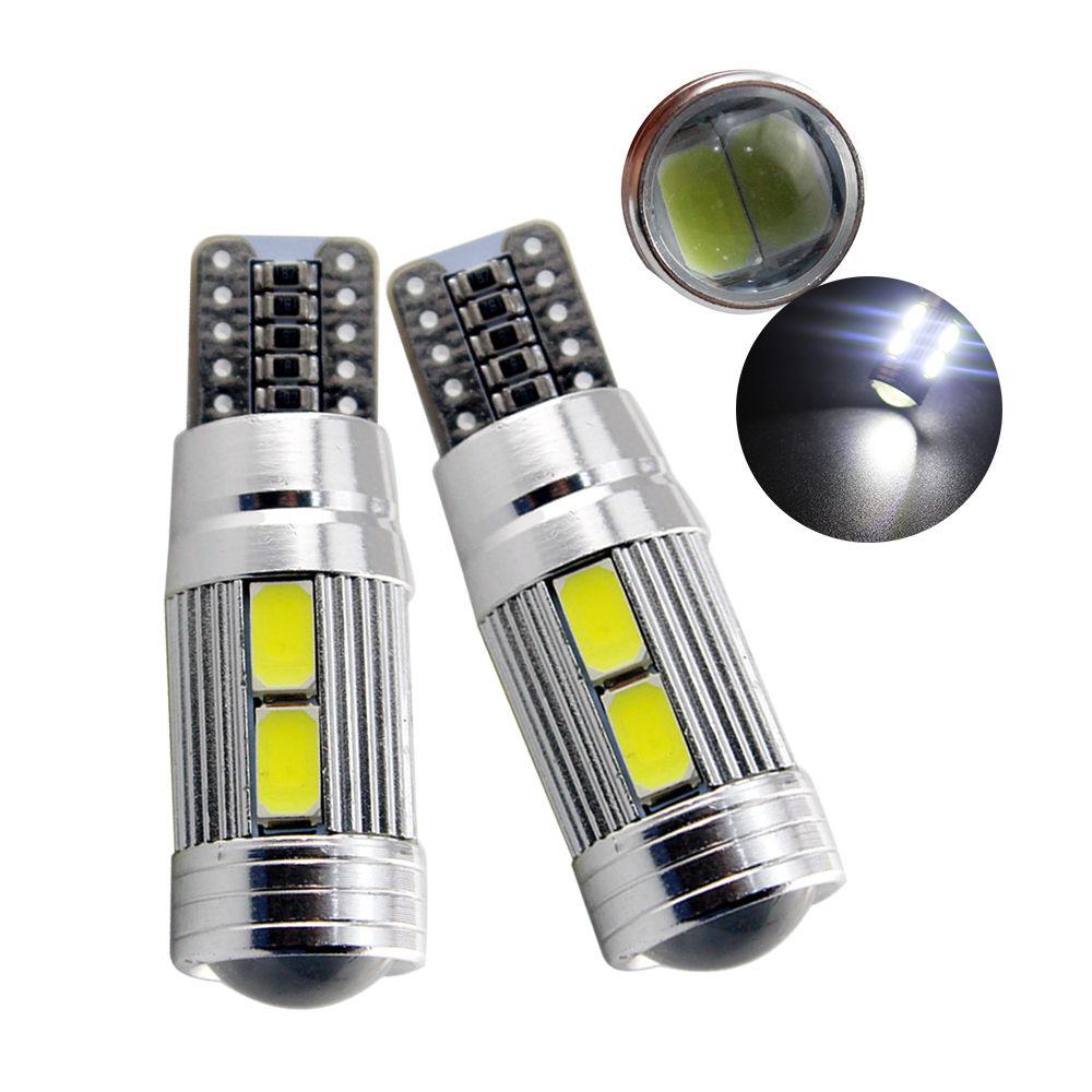 2 Lampade T10 LED 10SMD 5730 canbus No Errore Luci BIANCO Fari Posizione