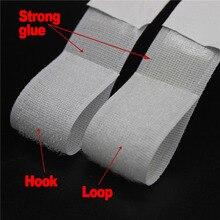 2,5 cm * 5 m/pares de gancho de cinta mágico blanco negro y cinta de sujeción autoadhesiva de bucle con pegamento fuerte para suministros para el hogar