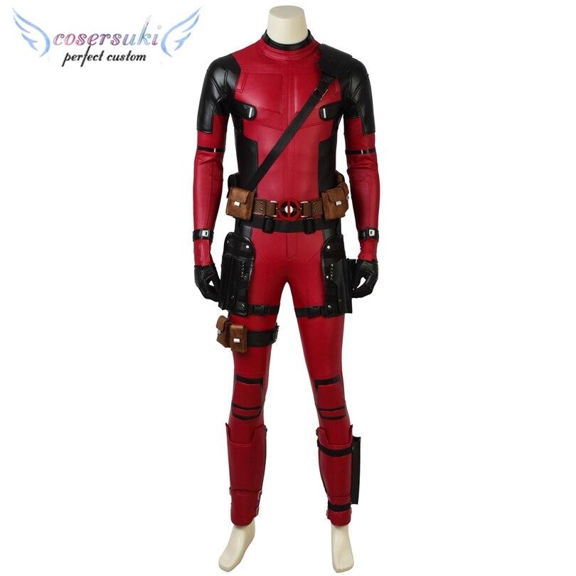 Deadpool2 wade winston wilson mais novo cosplay trajes palco desempenho roupas, personalizado perfeito para você!