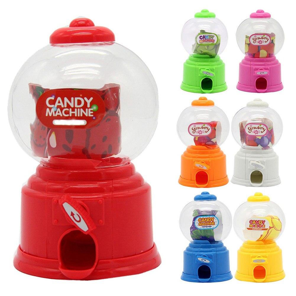 Cute Sweet Mini Candy Machine Bubble Dispenser Coin Bank Kids Toys Children Gift  Dispenser Box Bottle