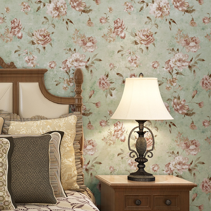 beibehang pastoral flowers wallpaper for walls 3d wall paper for wall 3 d classic embossed tv room bedroom wall paper home decor beibehang Retro American Country Pastoral Flowers wallpaper for walls 3 d Bedroom Living Room wall papers home decor panel wall