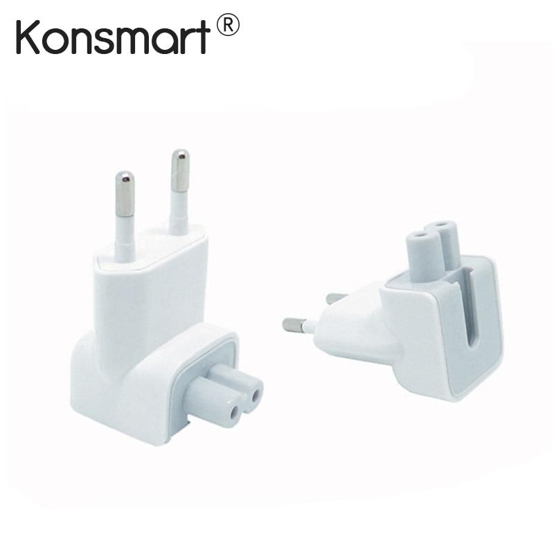 Штепсельная Вилка Konsmart EU, съемный блок питания переменного тока для Apple iPhone 6 7, iPad, USB настенное зарядное устройство, MacBook Air Pro, европейская мощность