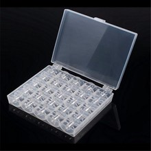 25 шт. пустые катушки для швейных машин прозрачный пластик с чехлом коробка для хранения для Brother Janome Singer Elna 5BB5310