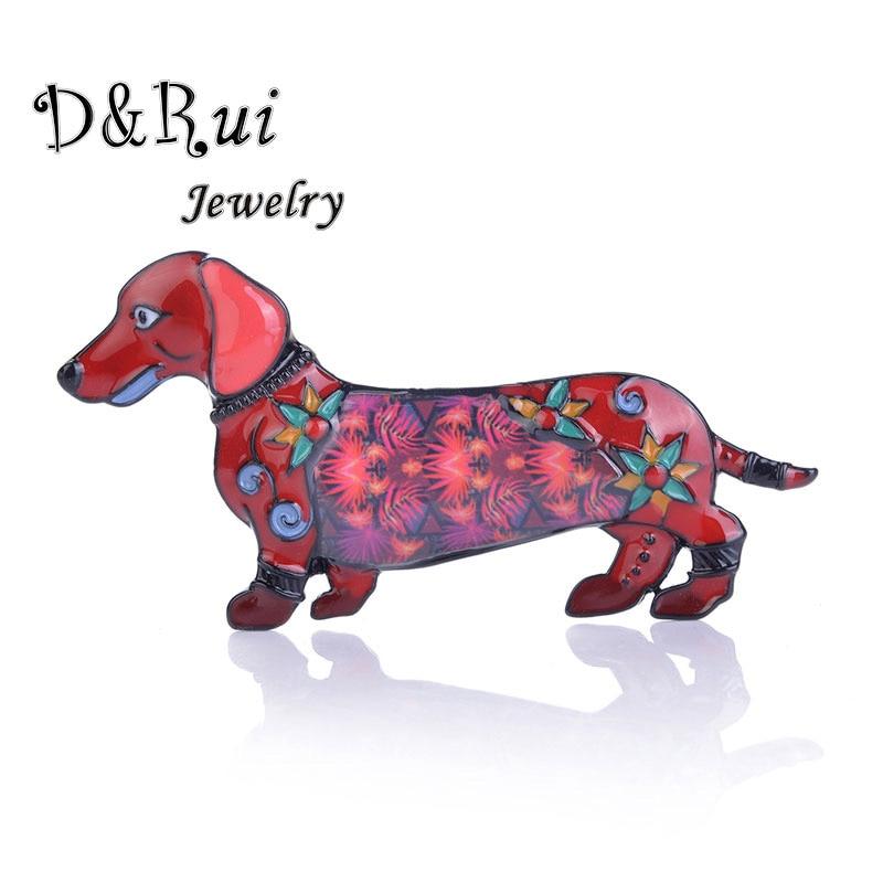 Teckel broche mignon émail broche broches mode 2019 bijoux en alliage de Zinc dessin animé chien broches robe accessoires pour cadeau unisexe