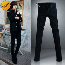 Nouveau 2020 mode noir Micro élastique maigre hommes adolescents décontracté crayon pantalon coton mince garçon beau Hip Hop jean 28-34