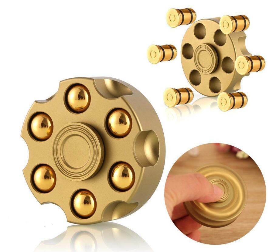 2020 Spinner antiestrés de mano removible Revolver bala de latón yema del dedo giroscopio dedo Spinner enfoque Anti reducir estrés juguete regalos