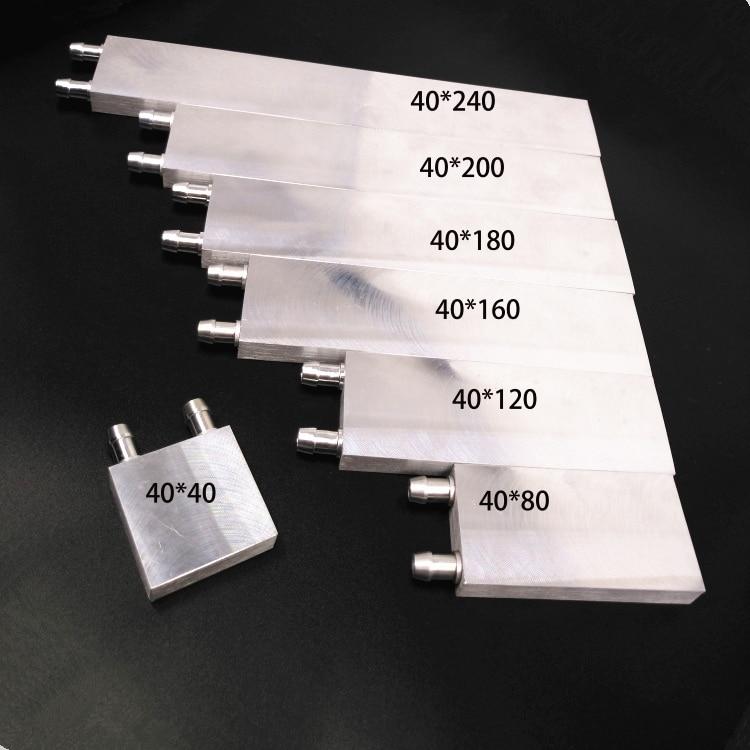 KOOLASON 40*12 مللي متر وحدة المعالجة المركزية بطاقة جرافيكس بلتيير رقاقة الألومنيوم المياه التبريد كتلة المبرد تبديد بالوعة حرارة