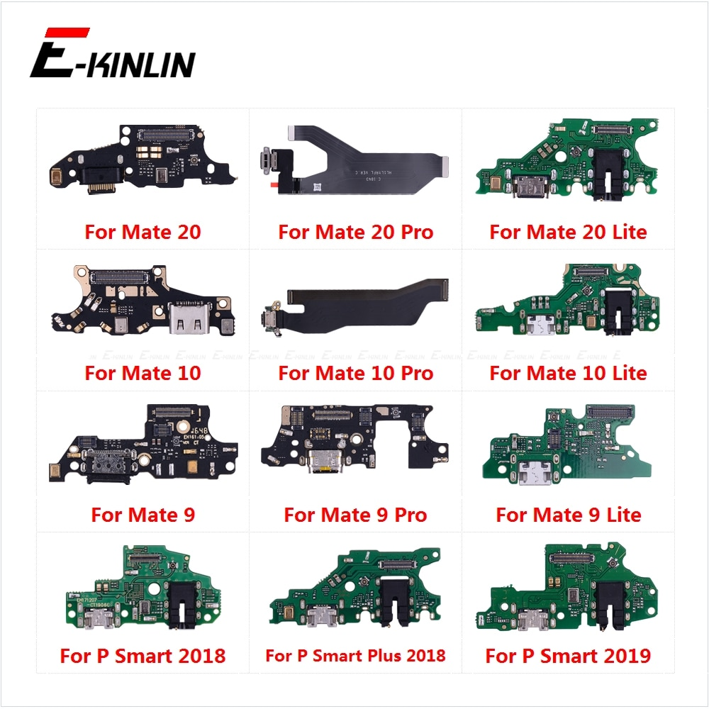 Charging Port Connector Board Parts Flex Cable With Microphone Mic For HuaWei Mate 20 10 9 Pro Lite