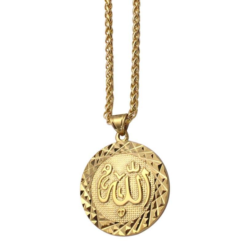 Zkd musulmán Alá Acero inoxidable colgante collar islámico musulmán Dios árabe Messager regalo joyería