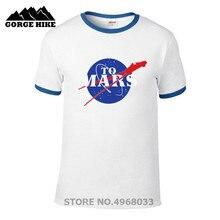 T-shirt Tesla Roadster à lespace musqué de mars Elon, t-shirts hommes SpaceX T-shirt Starman Tesla Roadster T-shirt voiture StarmanX