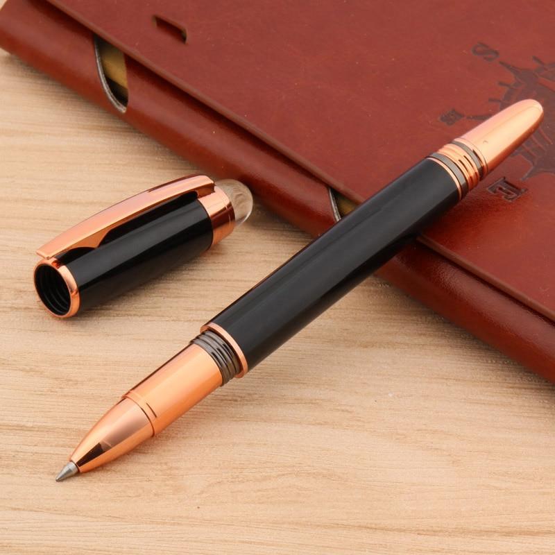 Chouxiongluwei Crystal Rollerball pen head cubierta de la pluma lattice rose dorado Negro regalo papelería oficina escuela suministros escritura