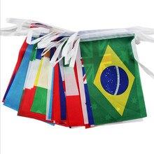 Drapeau à la ficelle 8 #   Petit drapeau des nations du monde, drapeaux de jeux olympiques des pays autour du monde, Cup bar de leurope