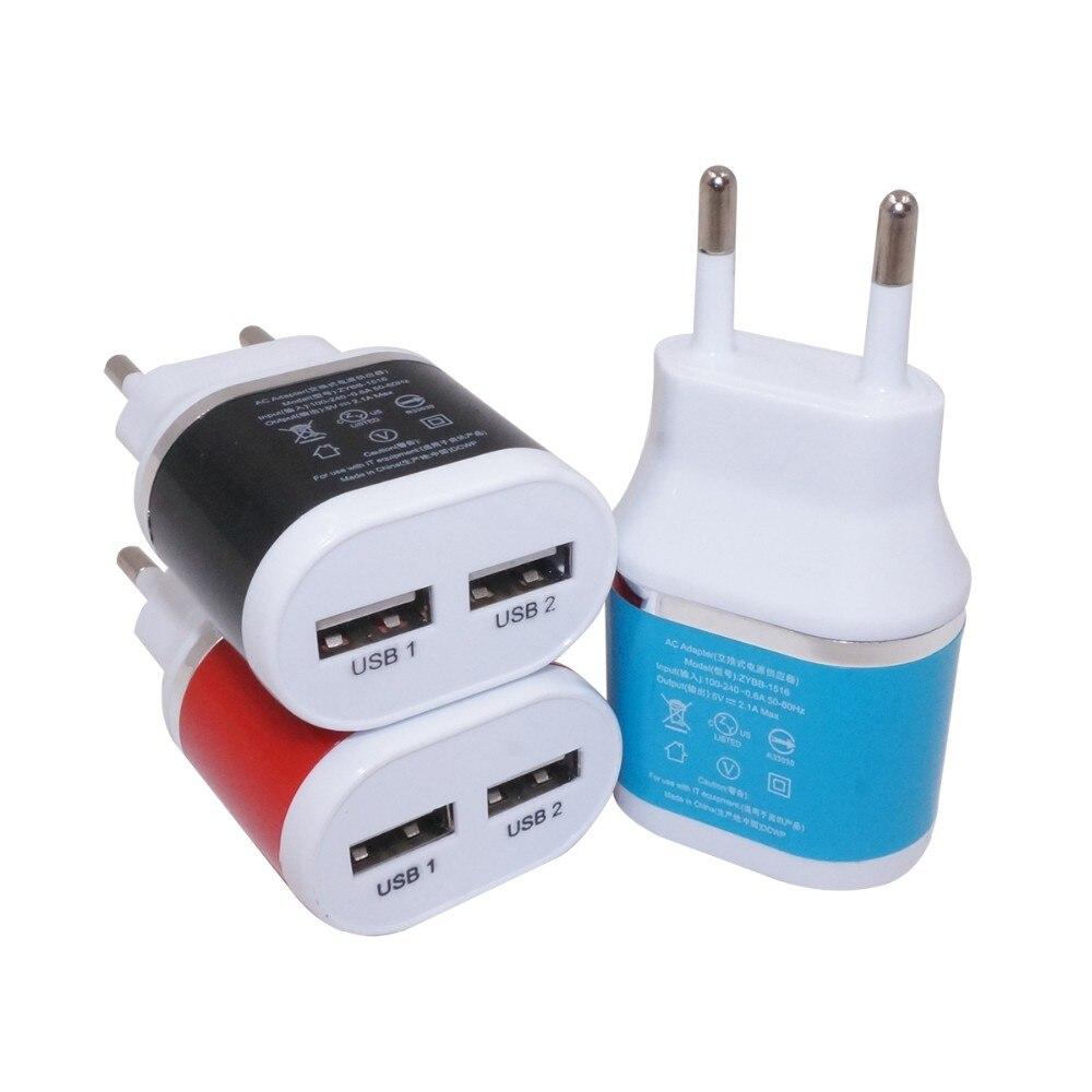 5 V 2.1A Dual USB Wandspielraumaufladeeinheit Adapter mit Europa EU/Us-stecker für iPhone/Android Smartphones/tabletten