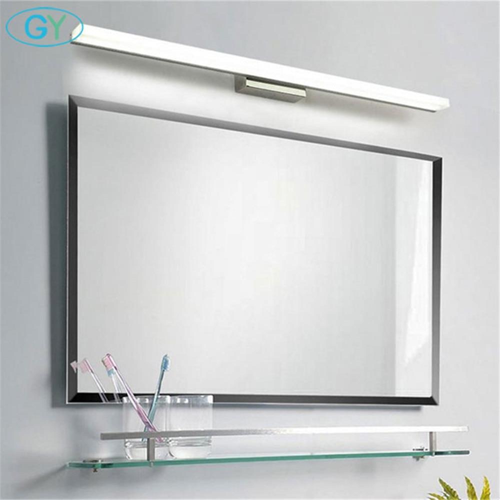 Moderne 40cm 50cm 60cm 70cm 90cm LED spiegel licht Edelstahl + Aluminium + Acryl led eitelkeit waschraum wand lampe make-up lampen