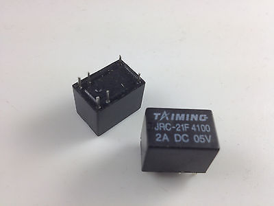 50 Uds en miniatura para PCB relé de JRC-21F 4100 DC 5 V, 6 pines