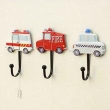 Crochet de voiture américain   Crochet décoratif pour sacs, magasin de vêtements, pour cabine dessayage, crochets à motif de police et ambulance