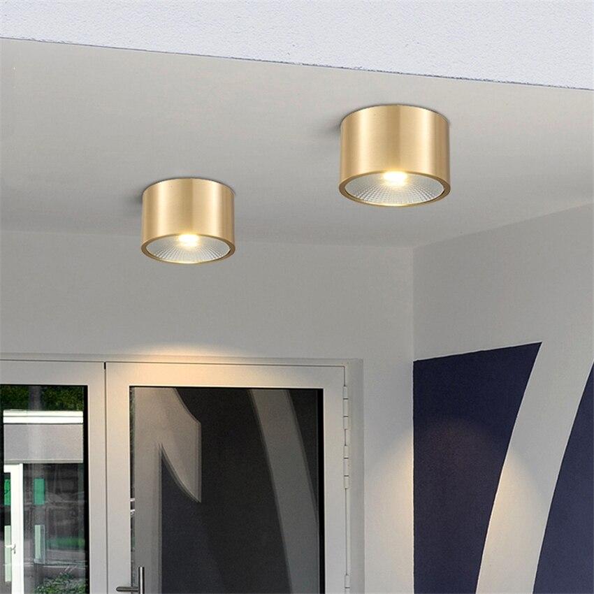 Todos os Cobre Nordic-buraco Aberto Livre Gateway Downlights Holofotes Lâmpadas Do Teto do Quarto Sala de estar Corredor Varanda Luzes Do Banheiro