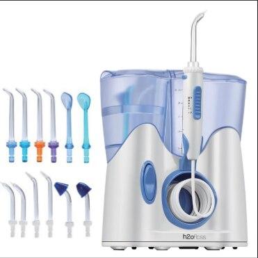 H2ofloss 800 ml 구강 irrigator 물 flosser 치실 치아 낮은 소음 물 jetting toothb의 청소 기계의 샤워에