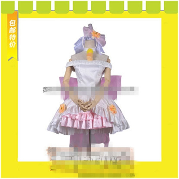Liebe Live Rin Hoshizora Liebe Flügel Glocke Kleid Cosplay Kostüm Blume Hochzeit Kleid Nach Maß EINE