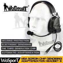 Casque tactique de réduction de bruit annulant la prise de son électronique Comtac II pour deux voies pour la Communication du casque talkie-walkie