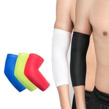 1 pièce respirant bras soutien manches soleil UV Protection basket-ball course Fitness brassards sport compresser coudières