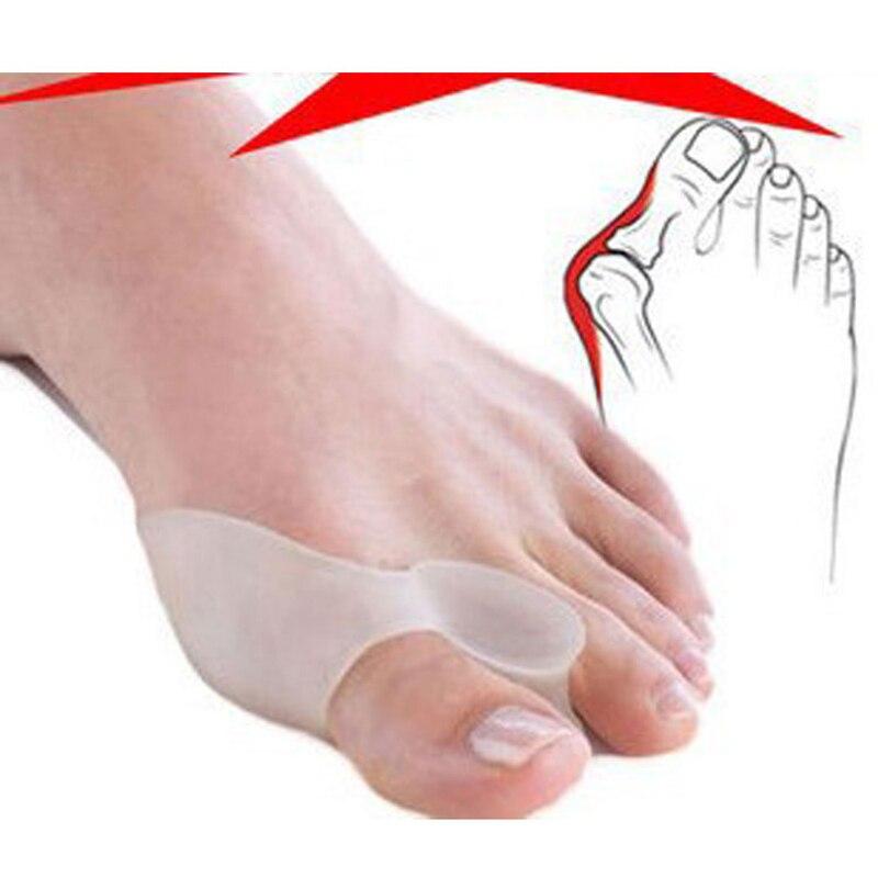 Silikon Gel Fuß Toe Separator Haarglätter Daumen Hallux Valgus Corrector Orthopädische Fuß Schutz Bunion Teller Füße Pflege