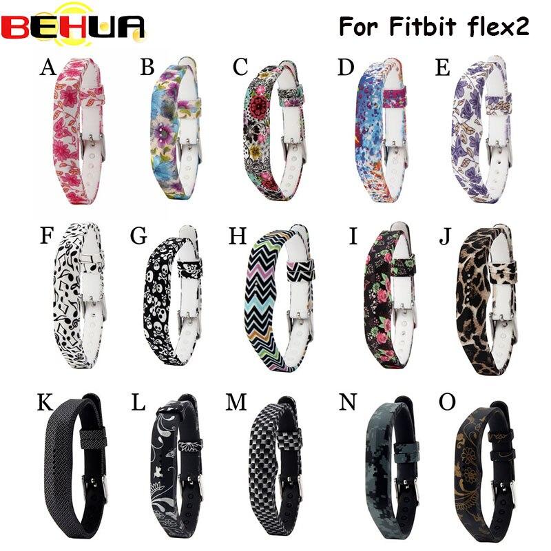 Pulseira de relógio de silicone macio, acessório para substituição de fitbit flexível 2, bracelete para fitbi flex2