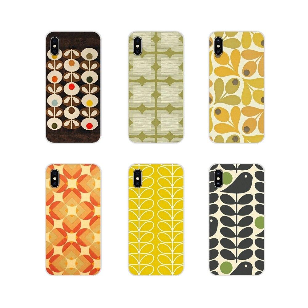 TPU caso de la piel para iPhone X de Apple XR XS MAX 4 4S 5 5S 5C SE 6 6S 7 7 Plus ipod touch 5 6 única Orla Kiely arte cartel