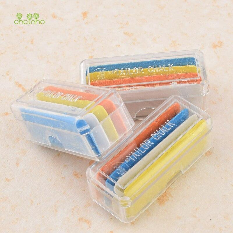 Chainho, 3 cajas/paquete, 12 Uds en Total, tiza de sastre de color en caja para costura DIY, accesorio hecho a mano, herramientas de corte de ropa, DA027