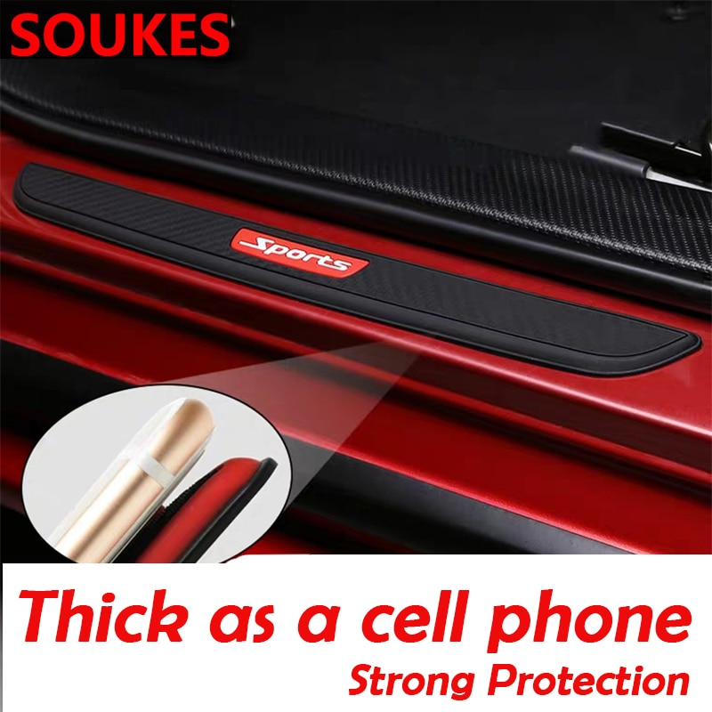 Plaque autocollante de protection de seuil   Pour Hyundai Solaris Tucson 2016 I30 IX35 I20 Accent Santa Fe Citroen C4 C5 4x4