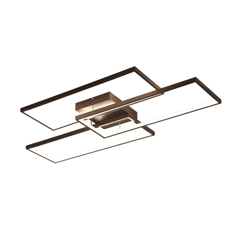 NEO Gleam Rectangle Black/White Color Modern Led Chandelier for living room bedroom 110V 220V deco Dimmable Ceiling Chandelier  - buy with discount