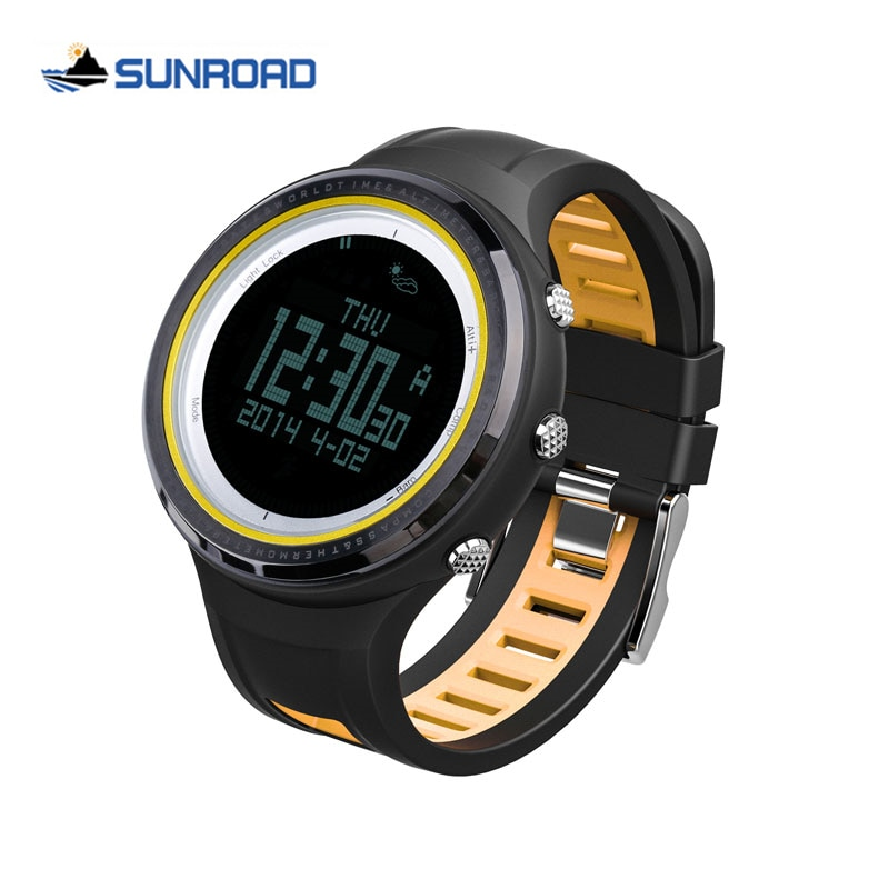 Reloj deportivo SUNROAD, altímetro impermeable para Hombre, brújula, cronómetro, barómetro de pesca, podómetro, Reloj Digital LED para Hombre Saat Reloj