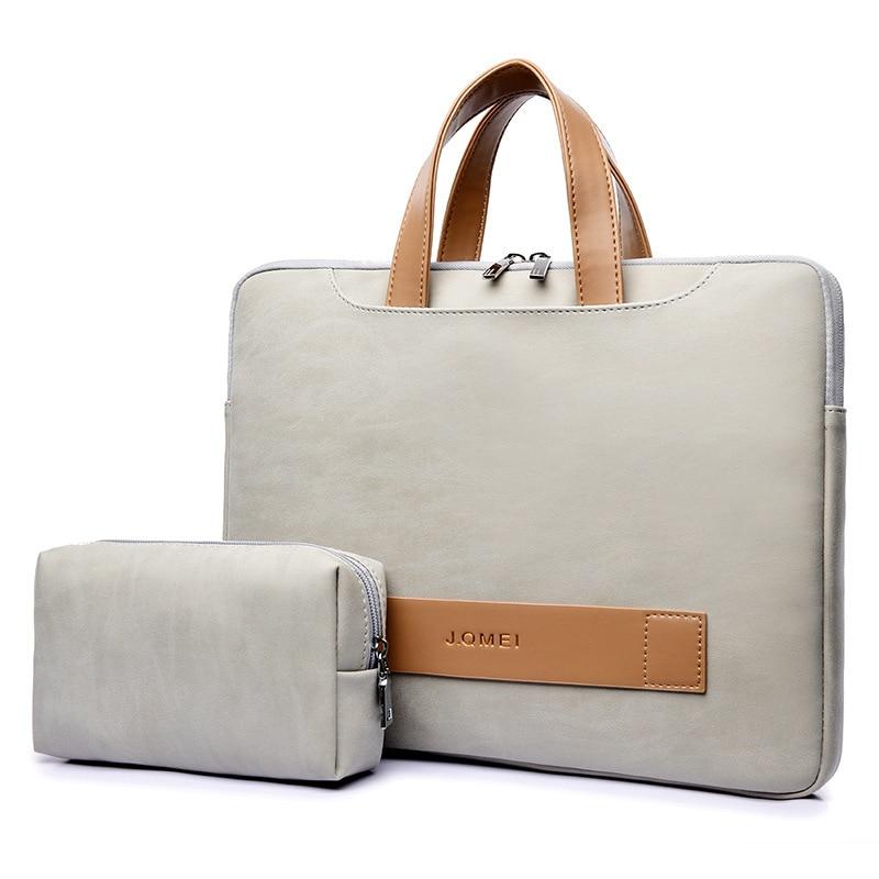 Mulheres portátil maleta de couro saco do escritório portátil ultrafino computador bolsa mensageiro sacos portátil portafolio