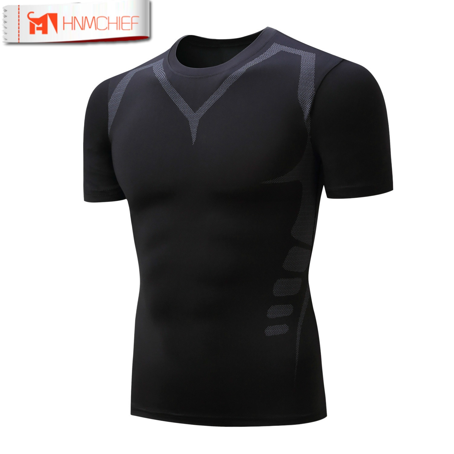 HNMCHIEF Hot Sale Fitness  Compression Shirt Men Bodybuilding short Sleeve T Shirt Tops Tees Sleeve 3D Male tshirt Fitness Compr