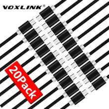 VOXLINK 20 حزمة كابل يو اس بي 5 فولت 2.4A المصغّر usb كابل شحن البيانات الهاتف المحمول كابل لسامسونج S7 S6 Huaiwei شاومي Meizu LG HTC