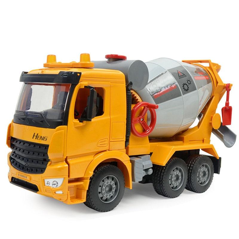 betoneira misturadora de cimento som de grande inercia e simulacao leve caminhao