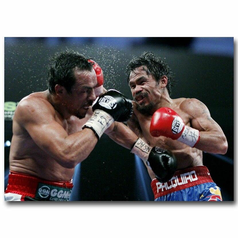 Q1836 Posters and Prints Manny Pacquiao vs Juan Manuel Marquez Boxing Cloth Art Poster Canvas Painting Home Decor
