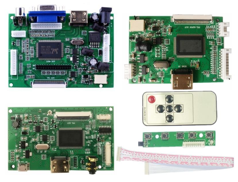 ЖК TTL LVDS плата контроллера HDMI VGA 2AV 50 PIN для AT070TN90 92 94 20000938-00Support автоматически Raspberry Pi плата драйвера