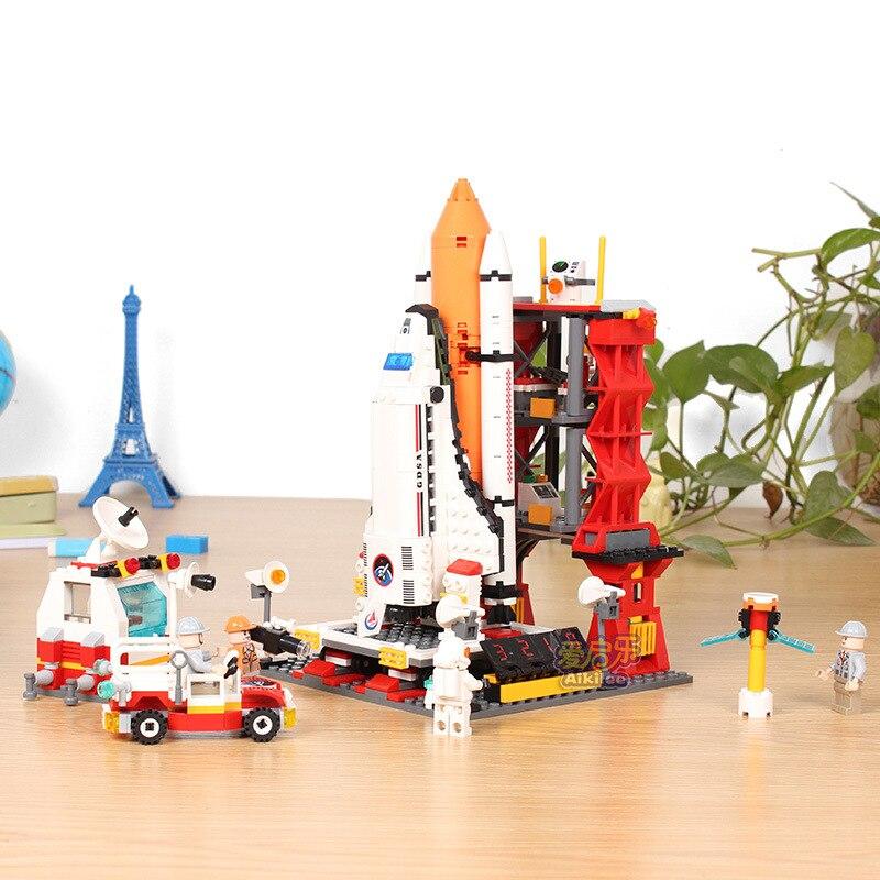 Gudi 679 pçs o shuttle lançamento centro espaço bloco de construção tijolos brinquedos educativos brinquedoscollection presente aniversário para childs
