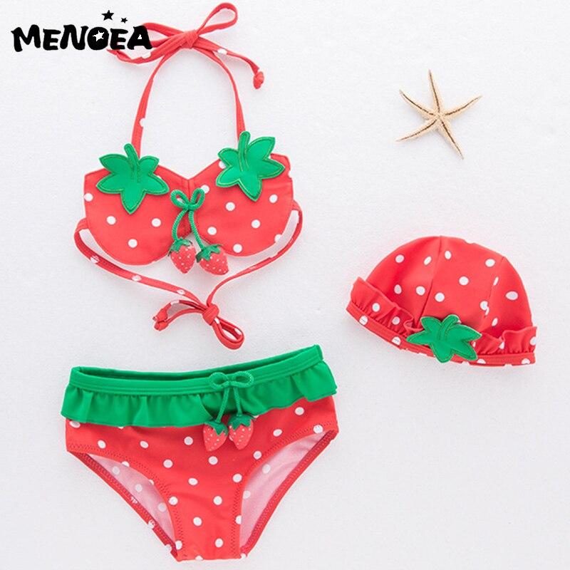 Grls ropa Sert bañador de fresas Bikini niños moda Niña niño conjunto de natación niños traje de baño para niños ropa