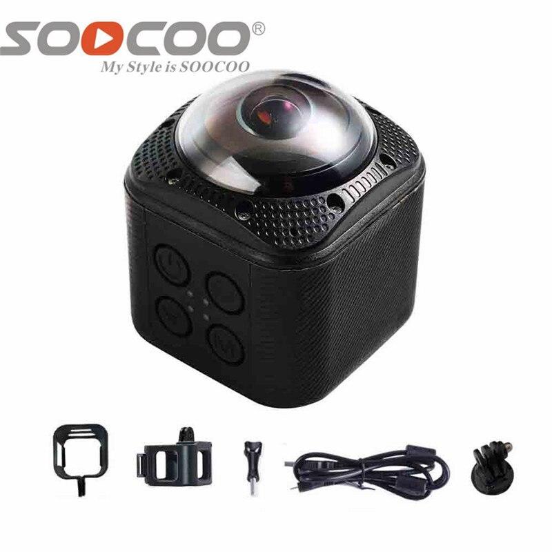 SOOCOO-كاميرا حركة 360F UHD 4K ، كاميرا رياضية مقاومة للماء تحت الماء ، 1080P/30fps 20M ، لركوب الدراجات