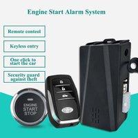 Partol Smart Key PKE Car Alarm Passive Keyless Entry Car System Engine Start Stop Push Button Remote Starter Shock Sensor X5