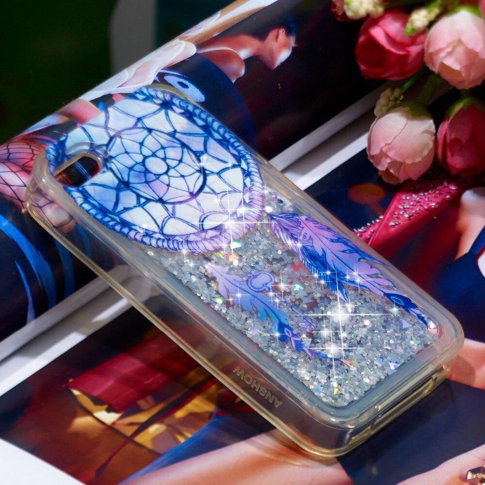 Śliczne Bling Glitter dynamiczny w pełni miękkie TPU wzorzyste etui na telefon dla iPhone 4 4S 5 5S SE 6 6 S plus 7 8 Plus X IP10 Quicksand pokrywa
