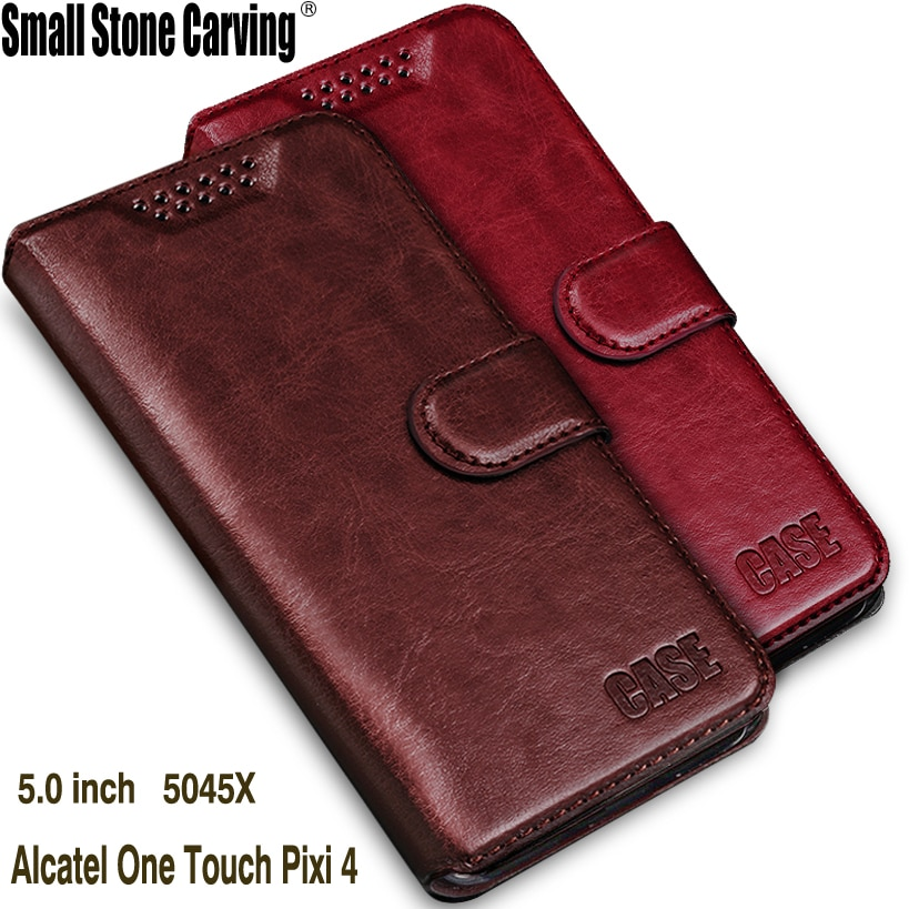 Para Alcatel One Touch Pixi 4 5045D Case Wallet Virar Silicone Case Capa Do Telefone de Couro Para Alcatel One Touch Pixi 4 5.0 4g 5045X