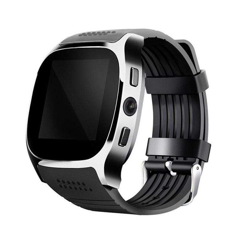 T8 Bluetooth reloj inteligente con cámara Facebook Whatsapp soporte SIM TF tarjeta llamada inteligente para teléfono Android PK Q18 DZ09
