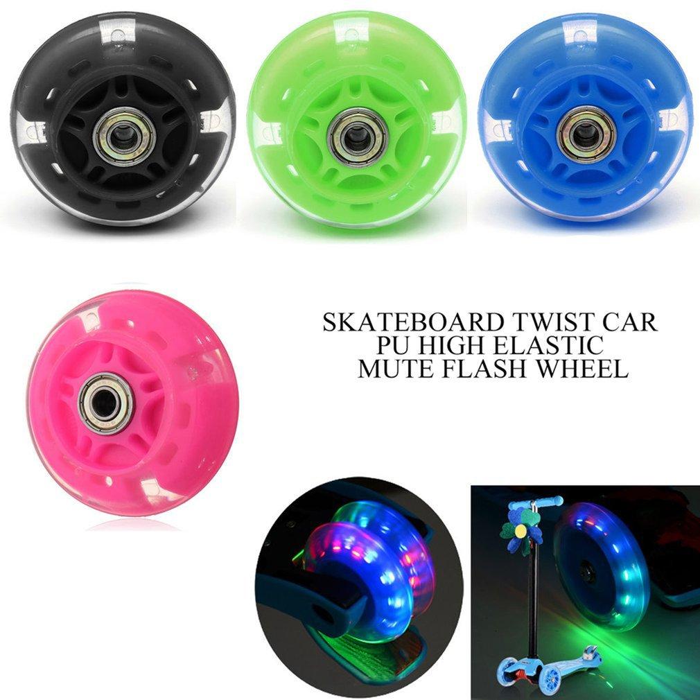 80mm 100mm 120mm de rueda de Scooter de destello de luz LED a rueda de Scooter para Scooter rodamientos con 5 colores