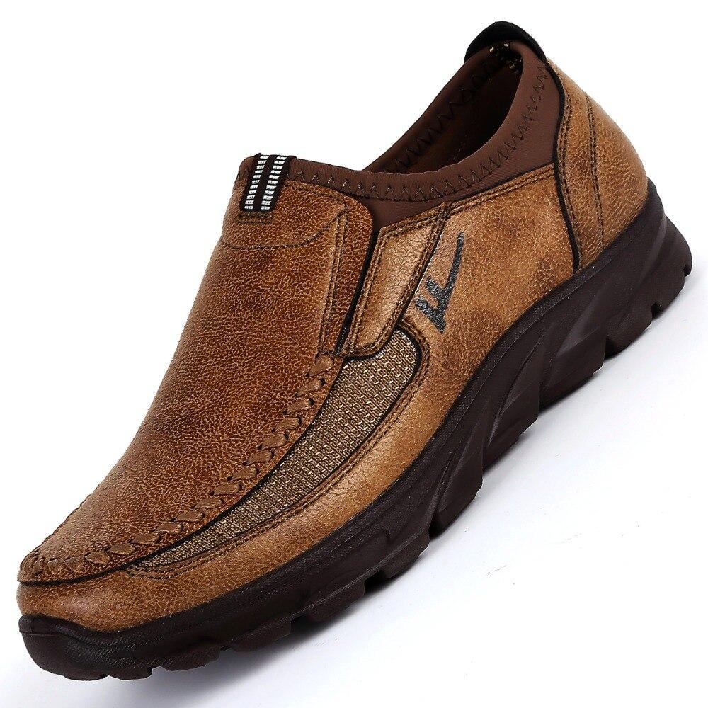 Zapatillas para correr con estilo para hombre, zapatillas para exteriores, ligeras, transpirables, cómodas, zapatos hechos a mano para hombre, calzado deportivo, talla de las zapatillas deportivas 38-48